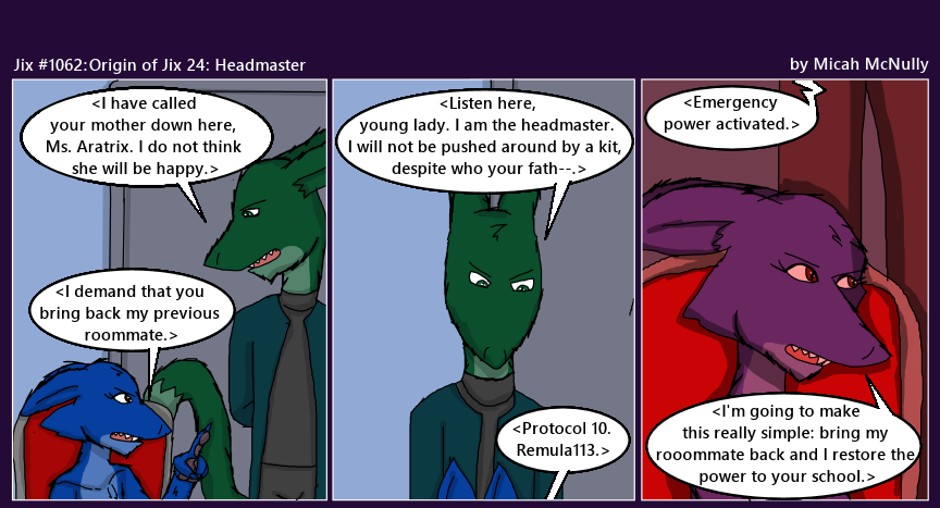 1062. Origin of Jix 24: Headmaster