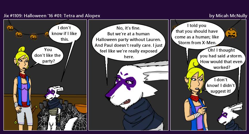 1109. Halloween '16 #01: Tetra and Alopex