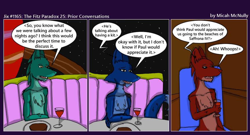 1165. The Fitz Paradox 25: Prior Conversations