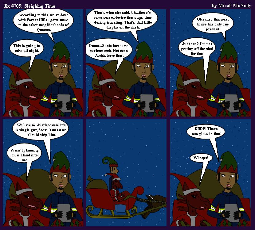 705. Substitute Santas 05: Sleighing Time