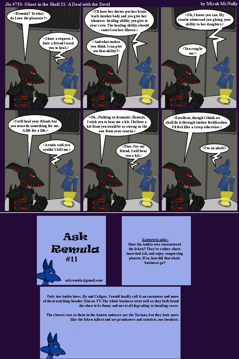 733: Ghost in the Shell 21: A Deal with the Devil (With Ask Remula 11)